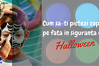 Cum sa-ti pictezi copilul pe fata în siguranta de Halloween