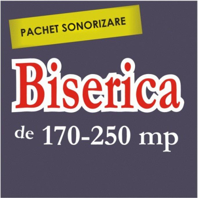 PACHET OFERTA - Sistem amplificare biserici 170-250 mp