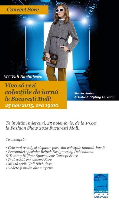 Show de modă cu vedete și concert Sore în București Mall