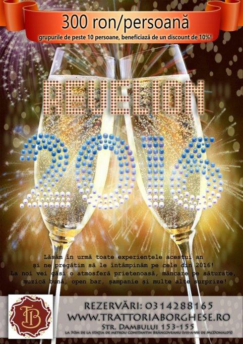 Revelion 2016 la Restaurant Trattoria Borghese