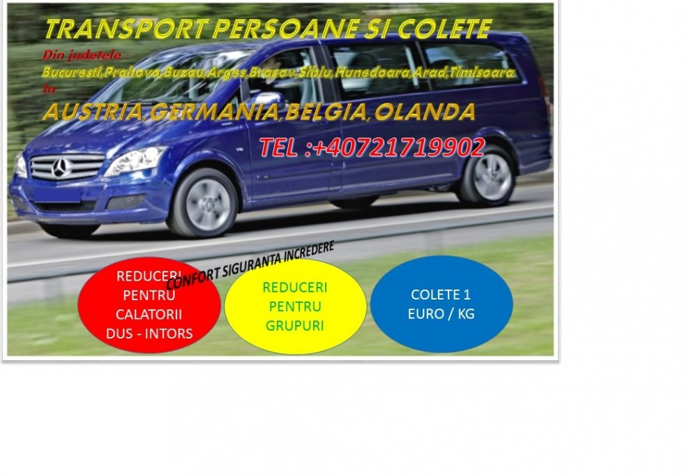transport persoane intern international