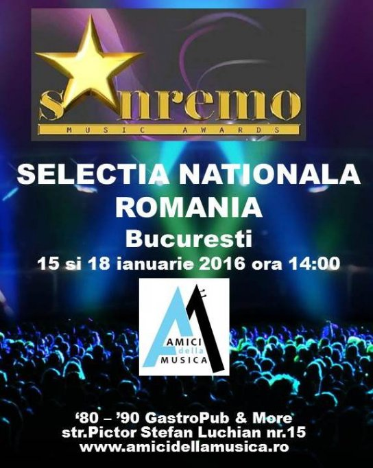 SELECTIA NATIONALA SANREMO MUSIC AWARDS ROMANIA