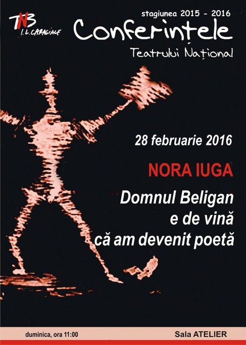 Nora Iuga la Teatrul Naţional Bucureşti: Domnul Beligan e de vină că am devenit poetă