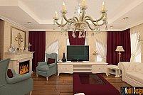 Realizare unui proiect de design interior pentru living de casa, cu mobilier italian