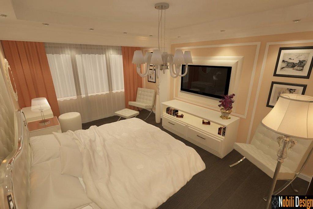 Amenajare interioara pentru dormitor de apartament din Bucuresti