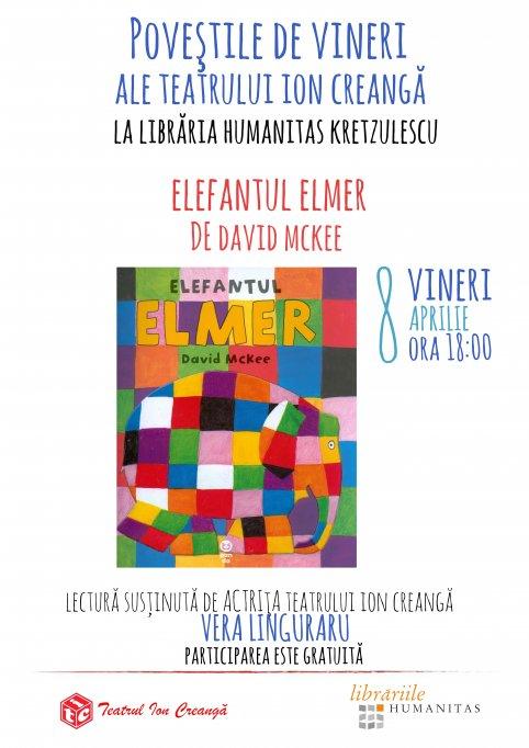 Povestile de vineri ale Teatrului Ion Creanga – Elmer, elefantel multicolor