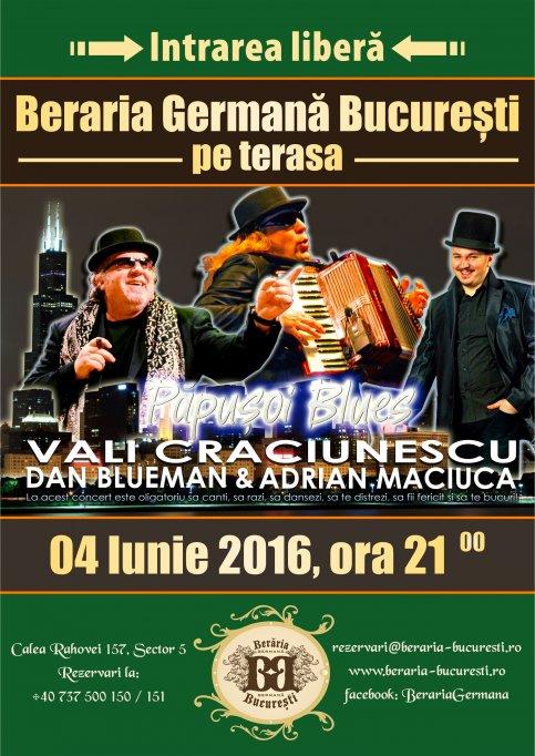 Concert pe terasa Vali Craciunescu & Blue Sound