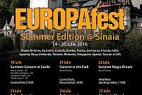 Start EUROPAfest Summer Edition 2016 ! Artisti prestigiosi intr-un concert de exceptie, sambata la Castelul Peles