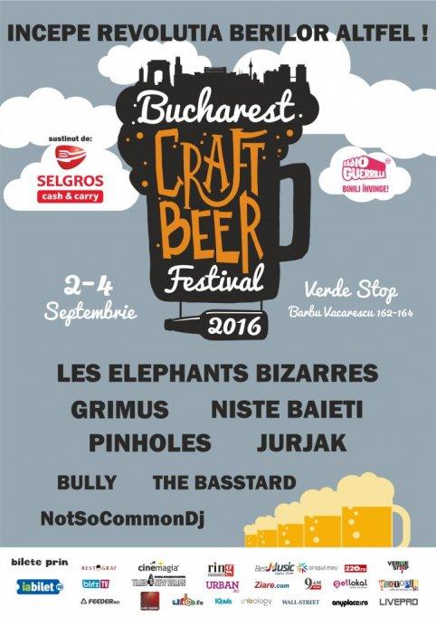 Peste 50 de sortimente de bere, trei tipuri de cidru și un grătar gigant, la Bucharest Craft Beer Festival