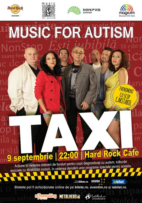 O categorie de bilete epuizată pentru concertul umanitar Taxi de la Hard Rock Cafe