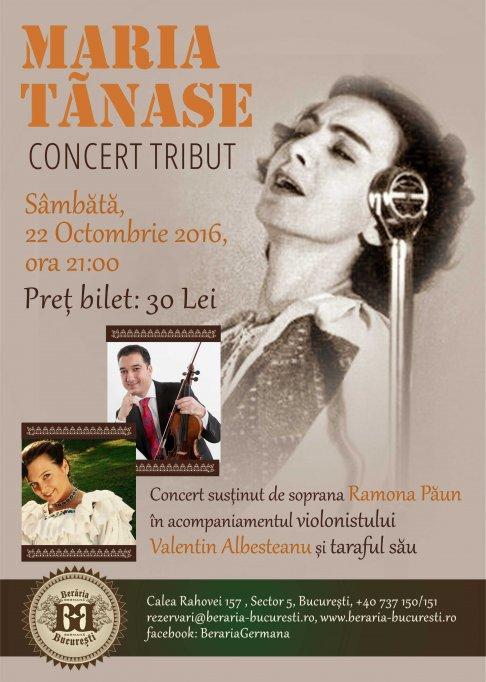"Concert Tribut ""Maria Tanase"""
