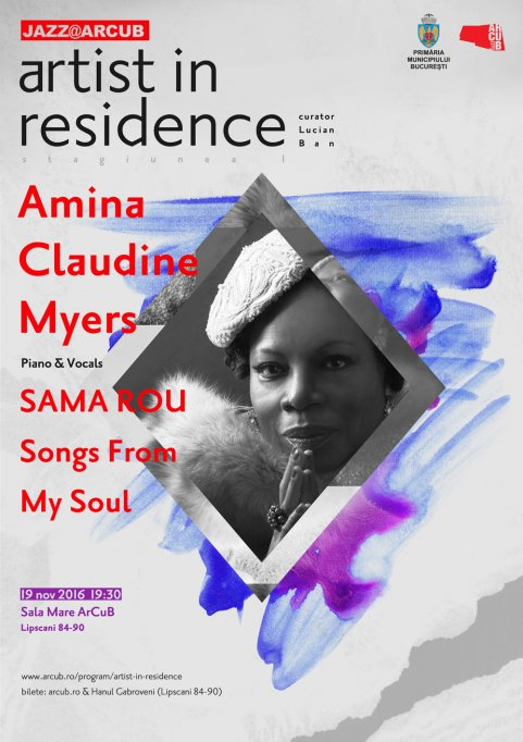 Amina Claudine Myers și noul său album SAMA ROU, în premieră în București, la ARCUB