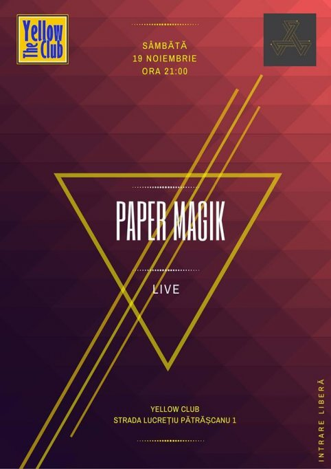 Concert paper magik în Yellow the Club – tu ești single, taken sau up for fun?