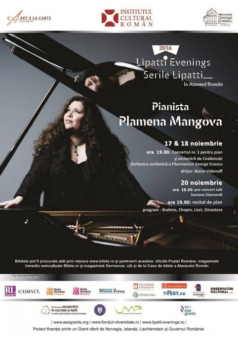 Plamena Mangova din nou la Ateneul Român
