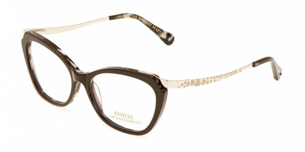 Ochelari de vedere Emilia Line femei IV_62-002 Negru Argintiu