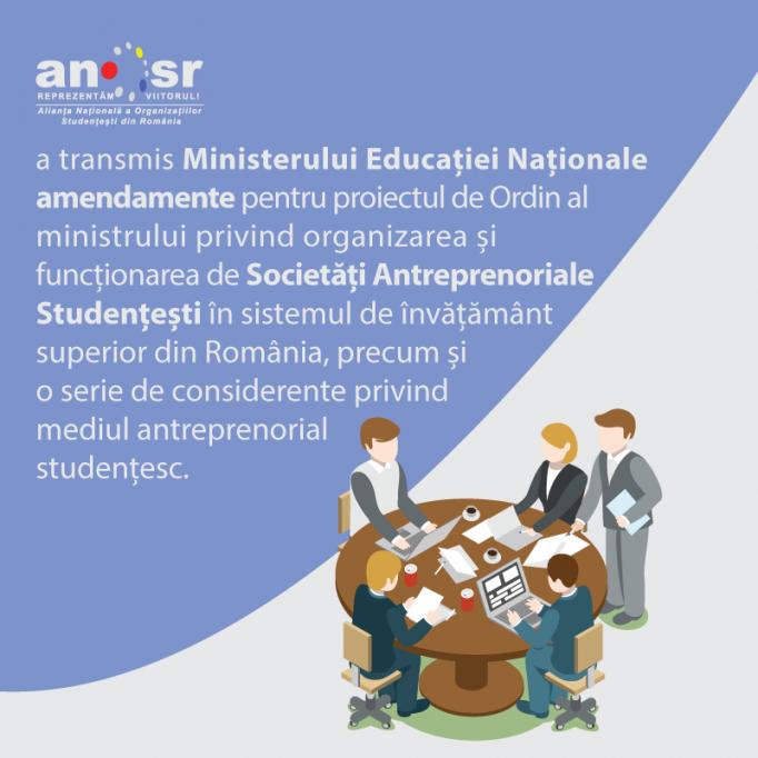Propunerile ANOSR pentru funcționarea Societăților Antreprenoriale Studențești