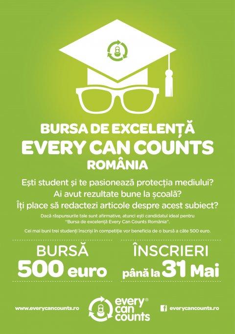Încep înscrierile la Bursa de Excelenţă Every Can Counts