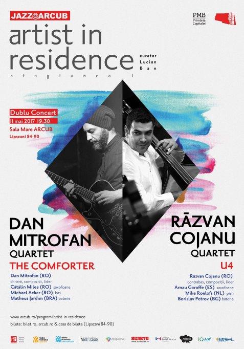 Dublu concert din cadrul stagiunii de jazz ARTIST IN RESIDENCE: Dan Mitrofan & Răzvan Cojanu