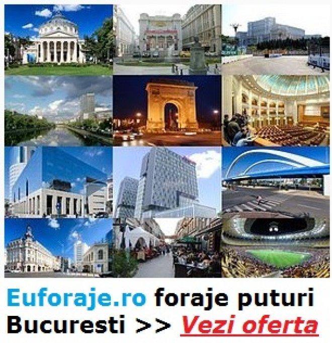 Executam lucrari de foraje puturi pentru alimentare cu apa in Bucuresti