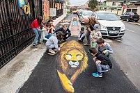 Trotuar unic în România, realizat pentru copiii speciali