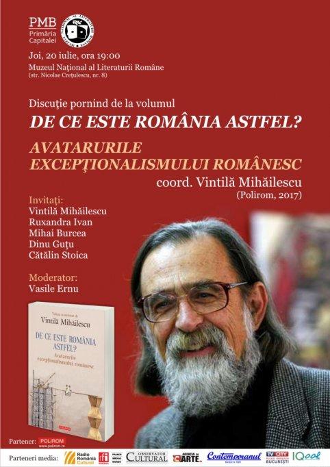 De ce este România astfel? în discuţie la Muzeul Naţional al Literaturii Române