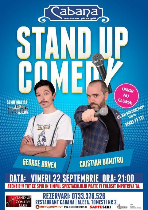 Stand-Up Comedy la Restaurant Cabana