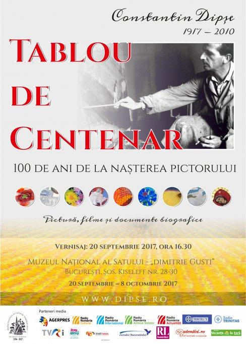Tablou de Centenar - 100 de ani de la nașterea pictorului Constantin Dipșe