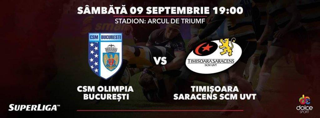 CSM București Rugby - Timisoara Saracens
