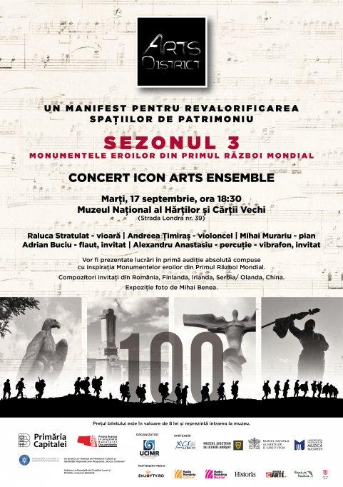 Concert în primă audiție în memoria eroilor din Primul Război Mondial