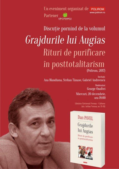 Grajdurile lui Augias, de Dan Pavel, în discuţie la Bucureşti