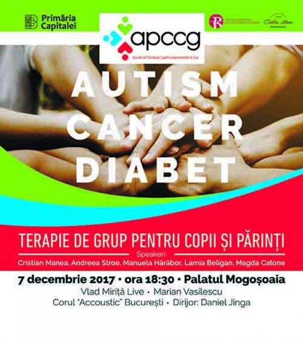 Autism. Diabet. Cancer - Programe gratuite de psihoterapie de grup pentru copii si parinti