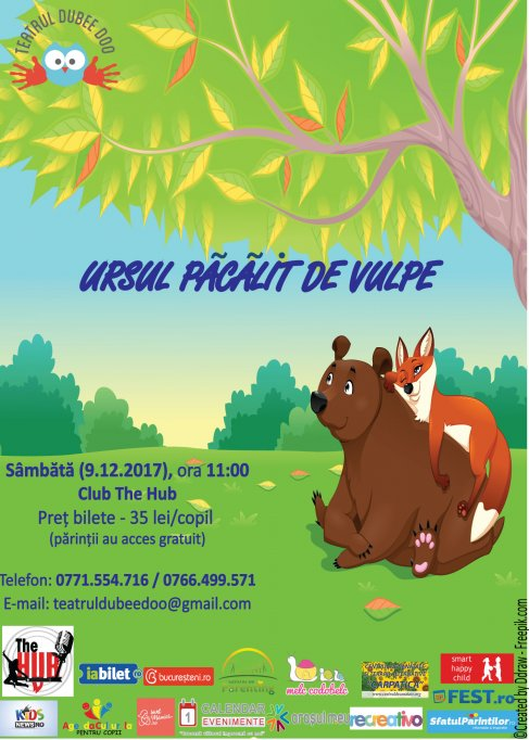"""""""Ursul pacalit de vulpe"""" - Spectacol interactiv pentru copii"""