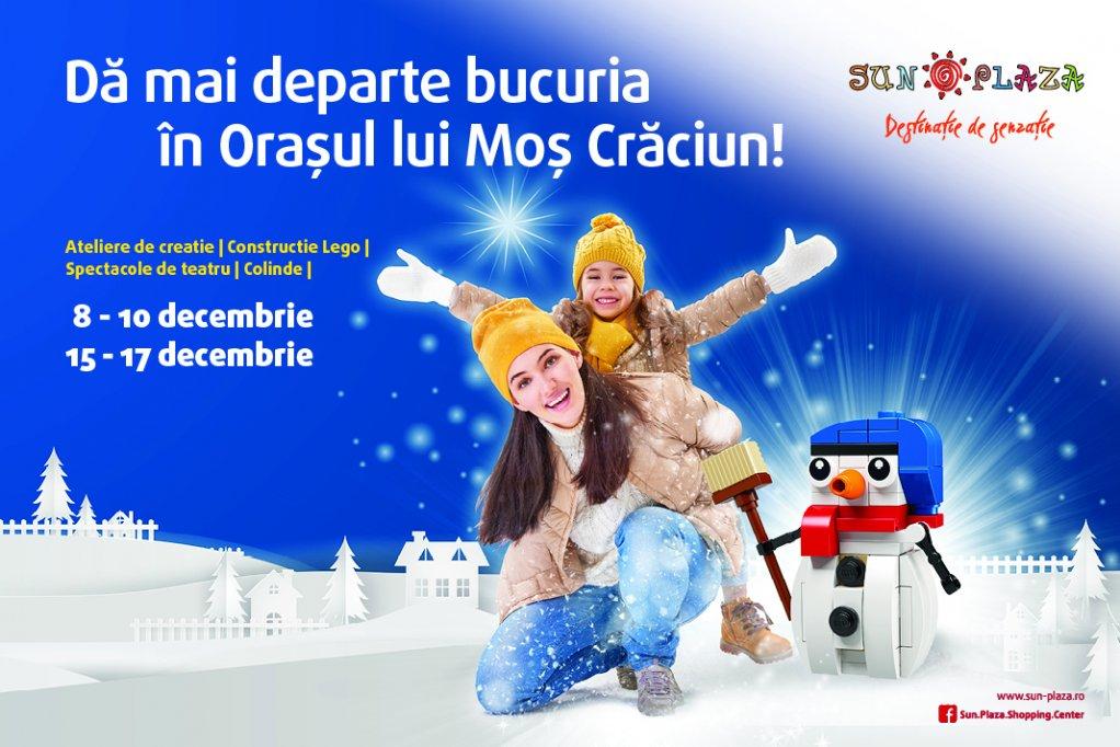 Orașul Crăciunului în Sun Plaza: fabrică de jucării, Moș Crăciun, magie, lectură de povești