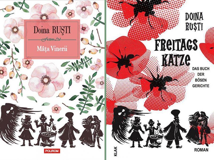 """Ediția germană a romanului Mâța Vinerii, de Doina Ruști, prezentă în expoziția """"Strada Lipscani – Leipzigerstrasse"""", Leipzig"""