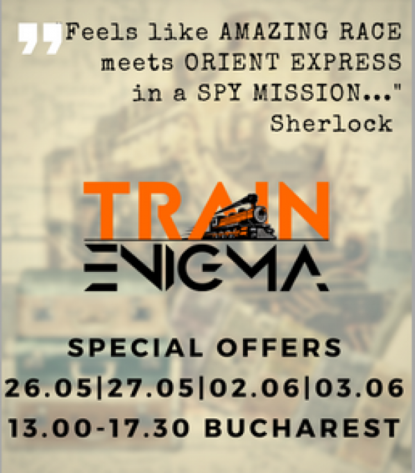 Train Enigma – probabil cel mai mare real life game din Romania