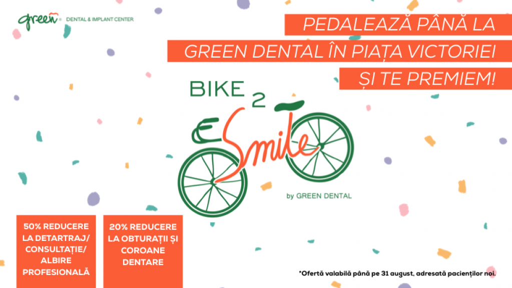 Bike 2 Smile – Mergi cu bicicleta și primești reducere la stomatolog!