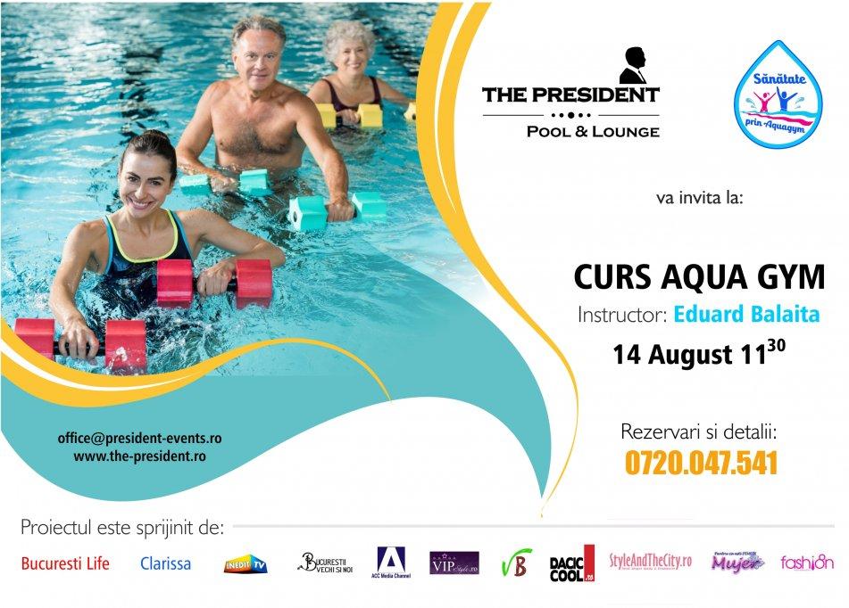 Lansarea proiectului Sanatate prin aqua gym, la The President Pool & Lounge