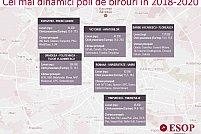 Topul zonelor din Bucureşti unde se vor da în folosință birouri până în 2020