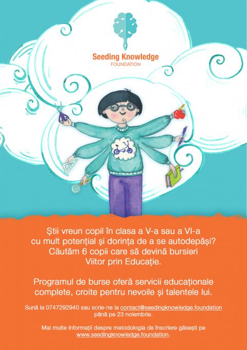 Programul de Burse Viitor prin Educație deschide un nou proces de selecție pentru copiii din București!