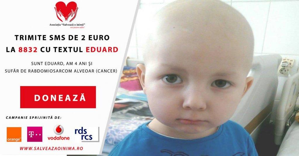 Ajută un copil de 4 ani să învingă cancerul!