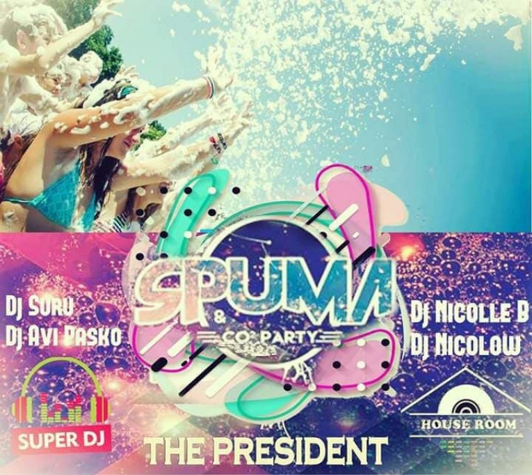 Spuma Party la The President
