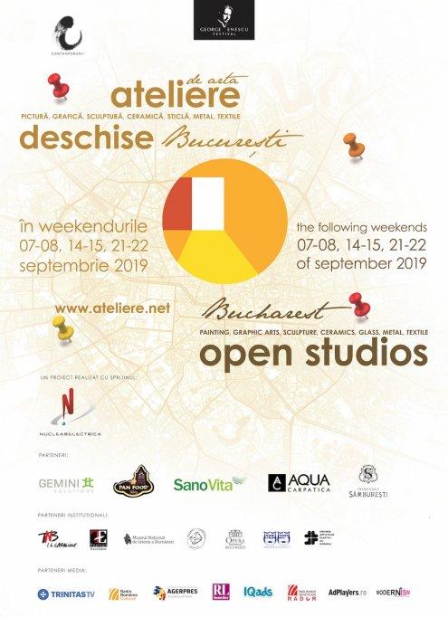 Peste 80 de studiouri deschise în București în 07-08, 14-15 și 21-22 septembrie 2019