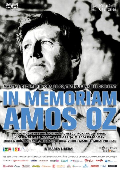 Spectacolul lectură In memoriam Amos Oz