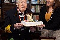 Viceamiralul Mircea Caragea a fost sărbătorit la împlinirea a 101 ani