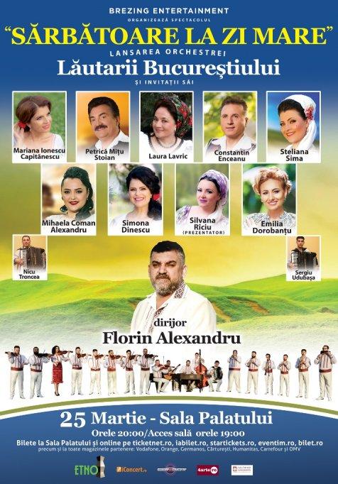 """Orchestra """"LĂUTARII Bucureștiului"""" in concert la Sala Palatului"""