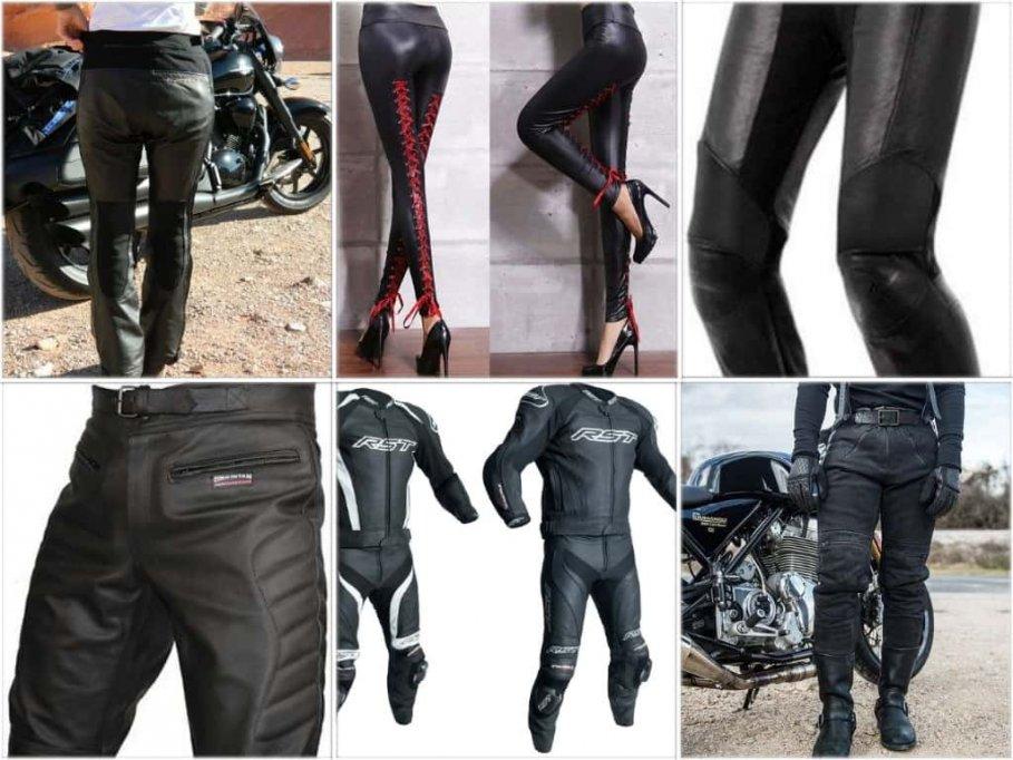 Pantalonii si costumul de piele pentru motociclism