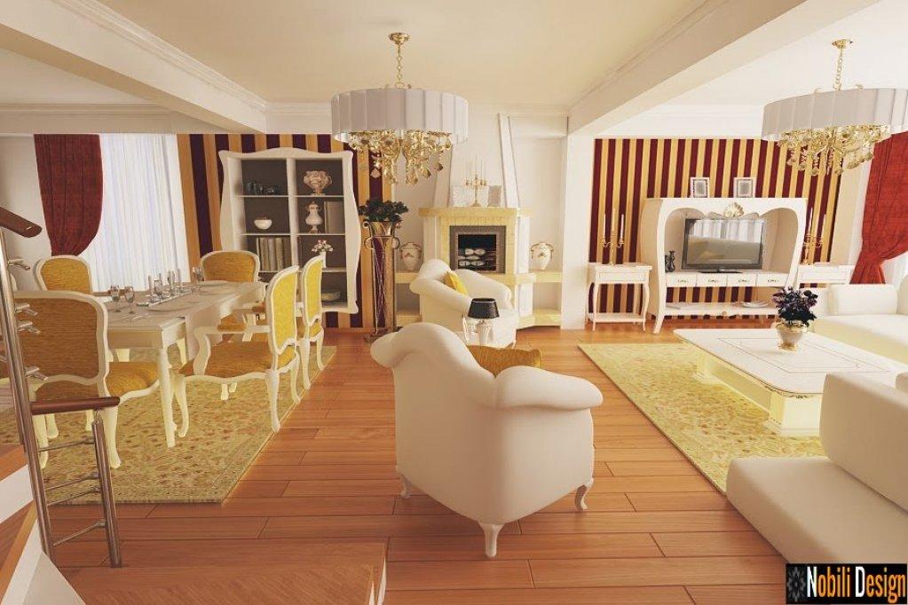 Servicii de amenajari interioare pentru case cu stil clasic