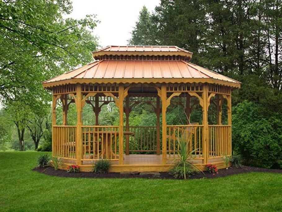 Foisorul de lemn, un plus pentru orice grădina
