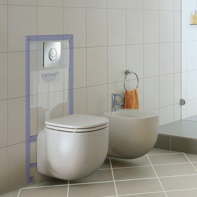 Descopera unicitatea unui rezervor wc incastrat in peretele din baie