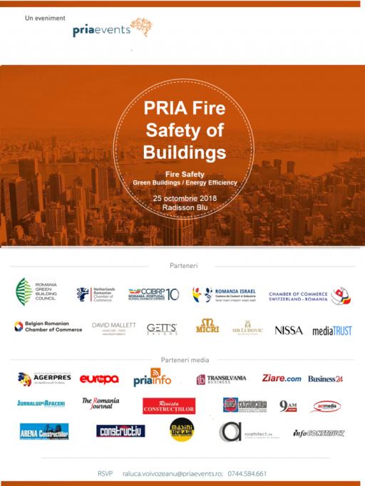 Coaliția pentru Siguranța la Incendiu a Clădirilor a fost lansată în cadrul conferinței PRIA Fire Safety of Buildings